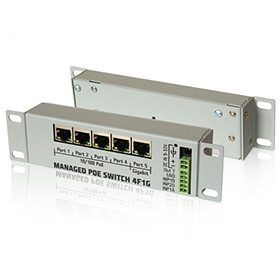 Managed Switch PoE PoE 4F1G